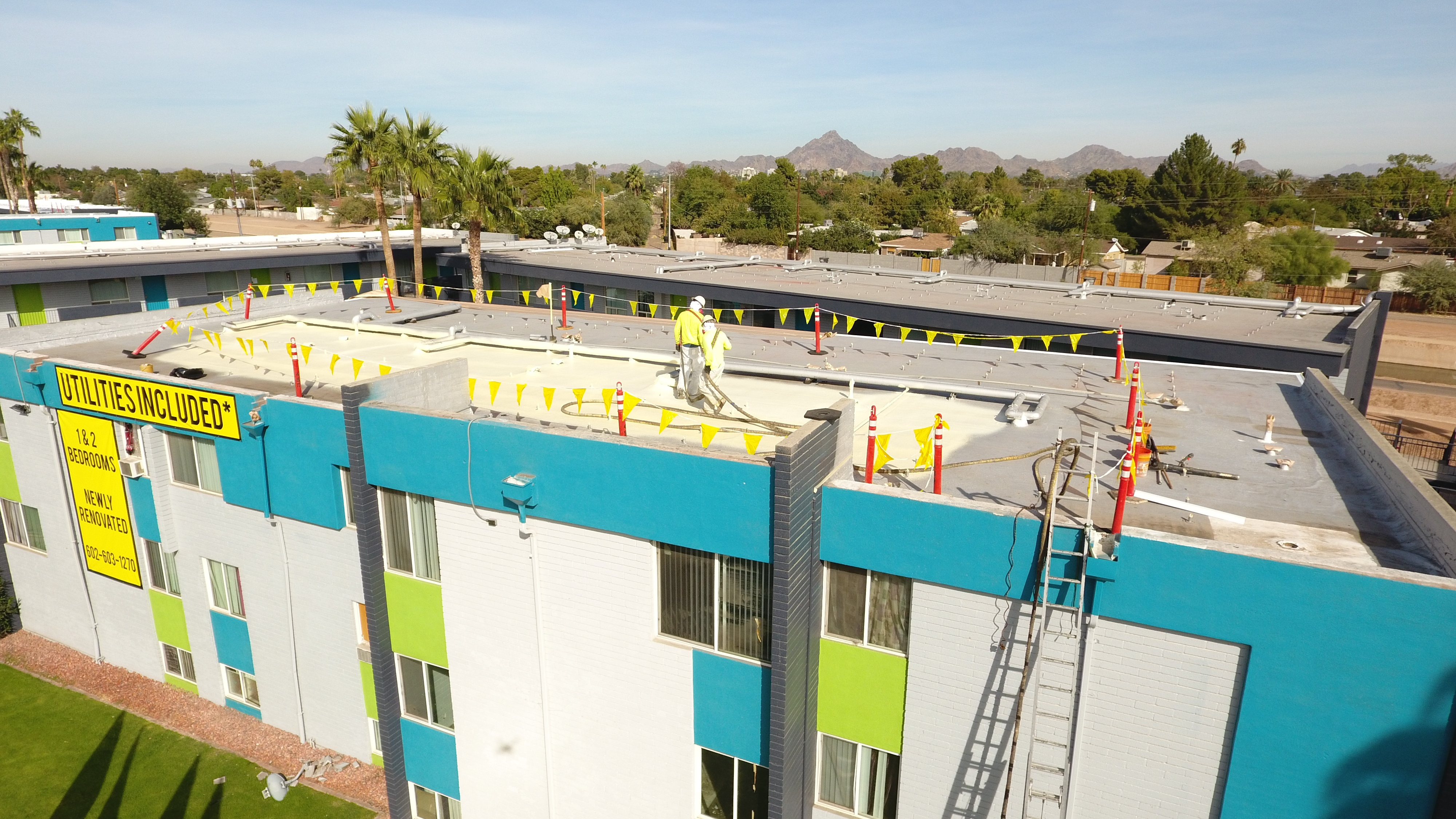Azul Roof doing a foam roof in Arizona