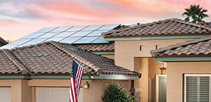 Solar panels installed on roof in Phoenix, Arizona