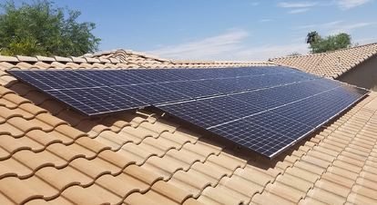 solar array on arizona tile roof